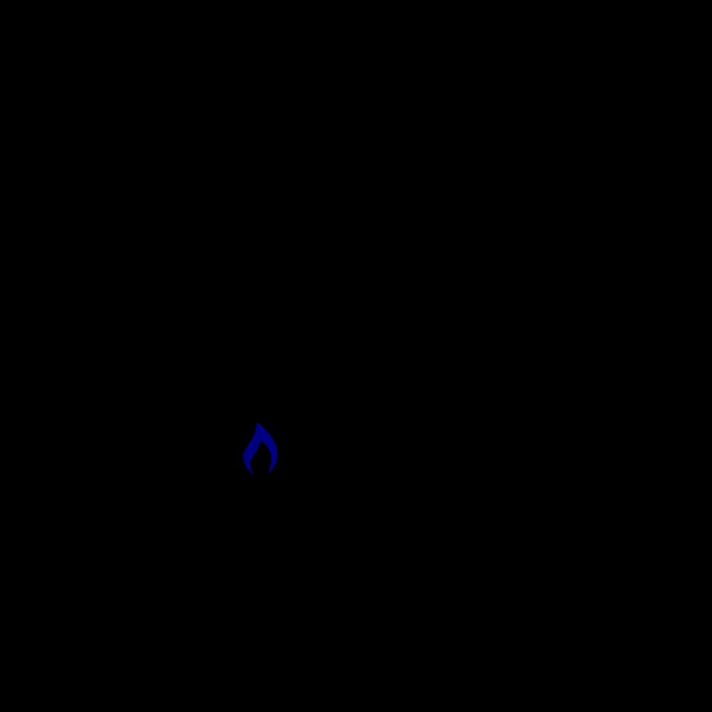 Blue Flame Simpleblue SVG Clip arts