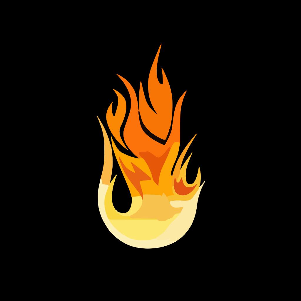 Blue Flame Solid Color Contur PNG, SVG Clip art for Web ...