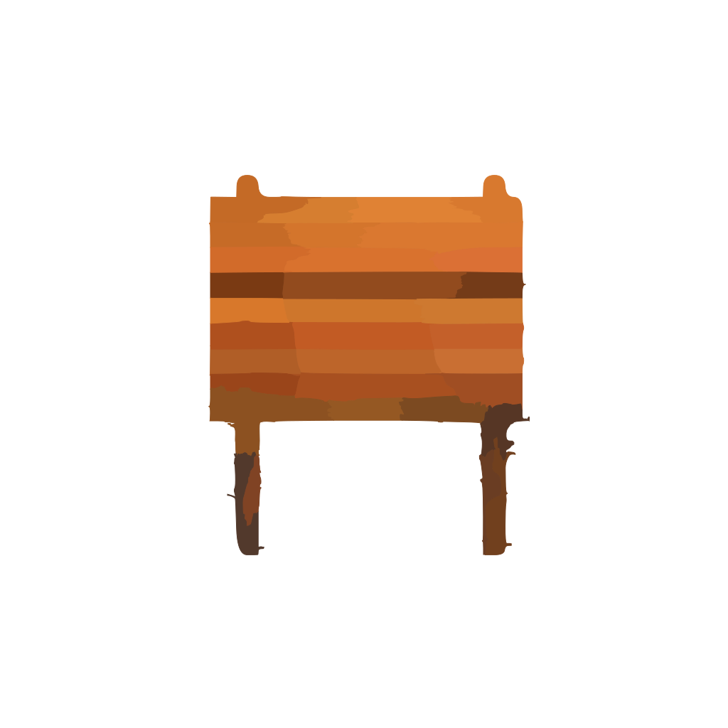 Collapsible Wooden Table SVG Clip arts