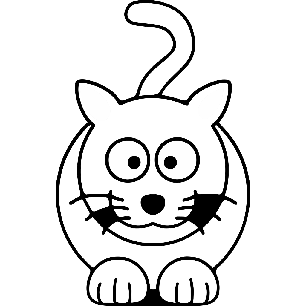 Lemmling Cartoon Cat Black White Line Art Coloring Book Colouring Drawing Px SVG Clip arts
