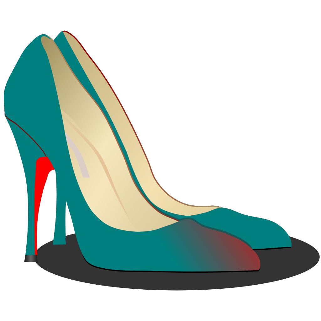 High Heels Red Shoe SVG Clip arts
