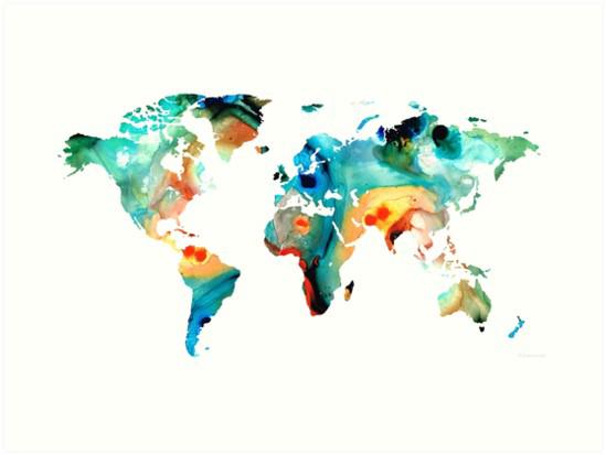 Abstract World Map PNG Image SVG Clip arts