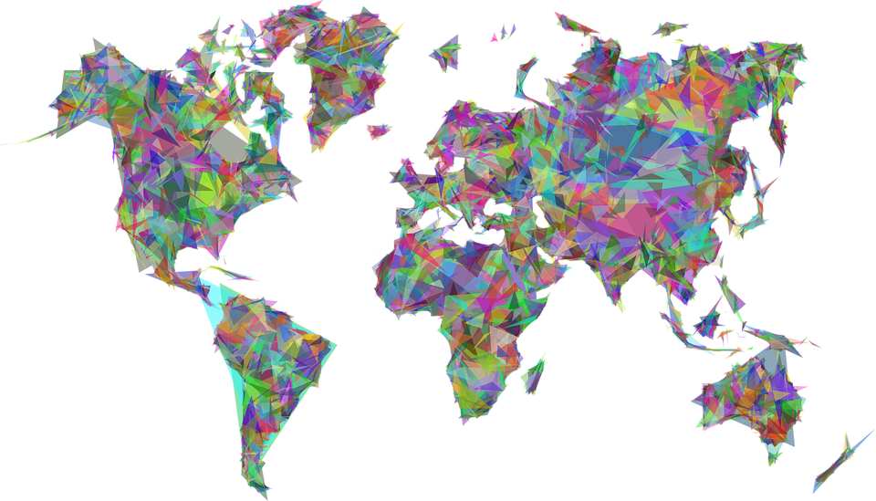 Abstract World Map PNG Transparent SVG Clip arts