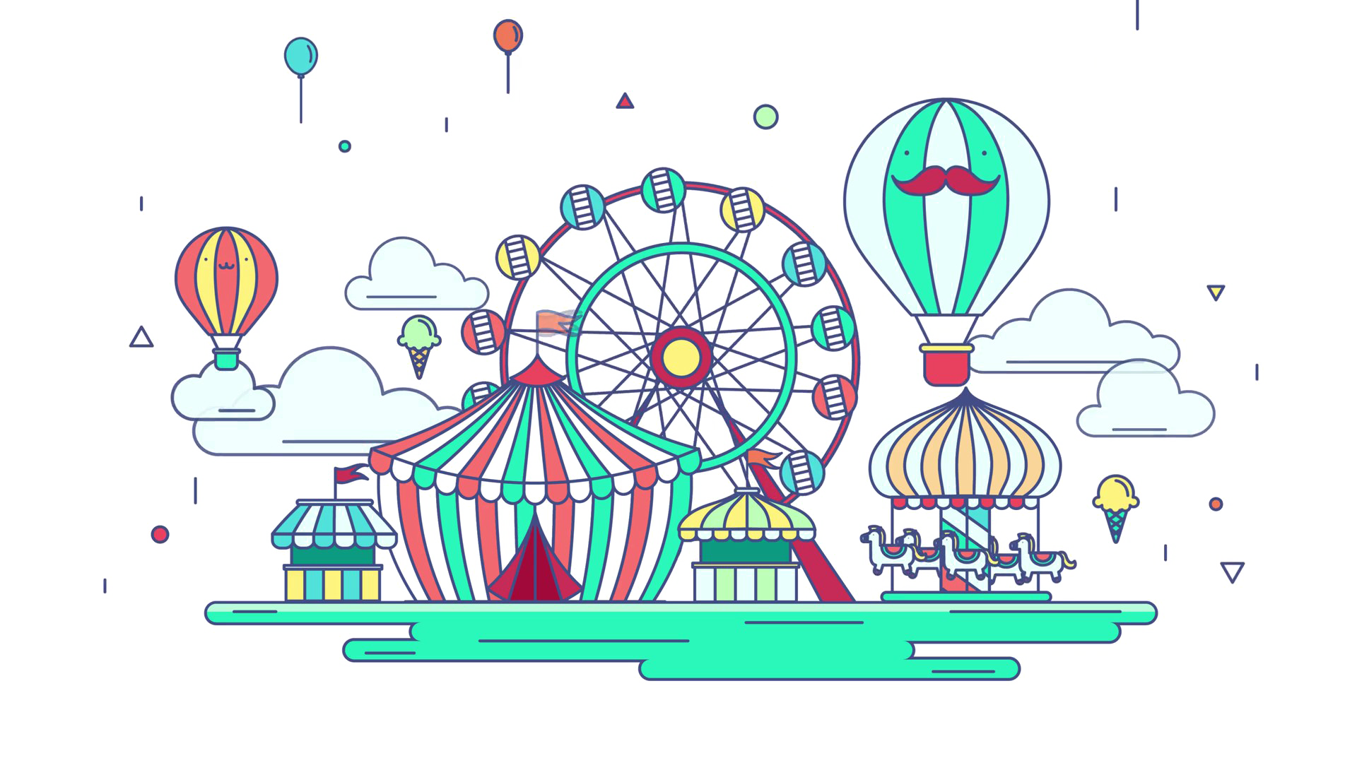 Amusement Park Background PNG SVG Clip arts