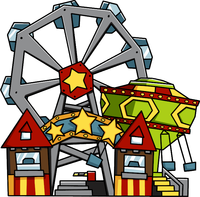 Amusement Park Transparent Background SVG Clip arts