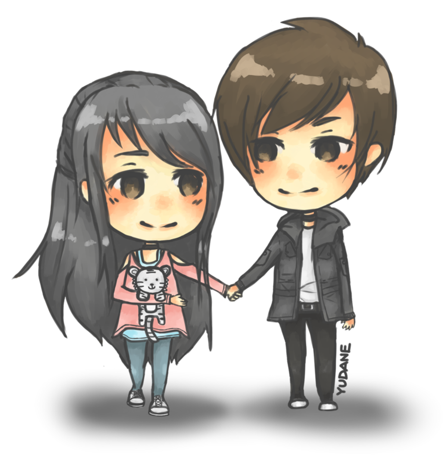 Anime Love Couple PNG Image PNG file