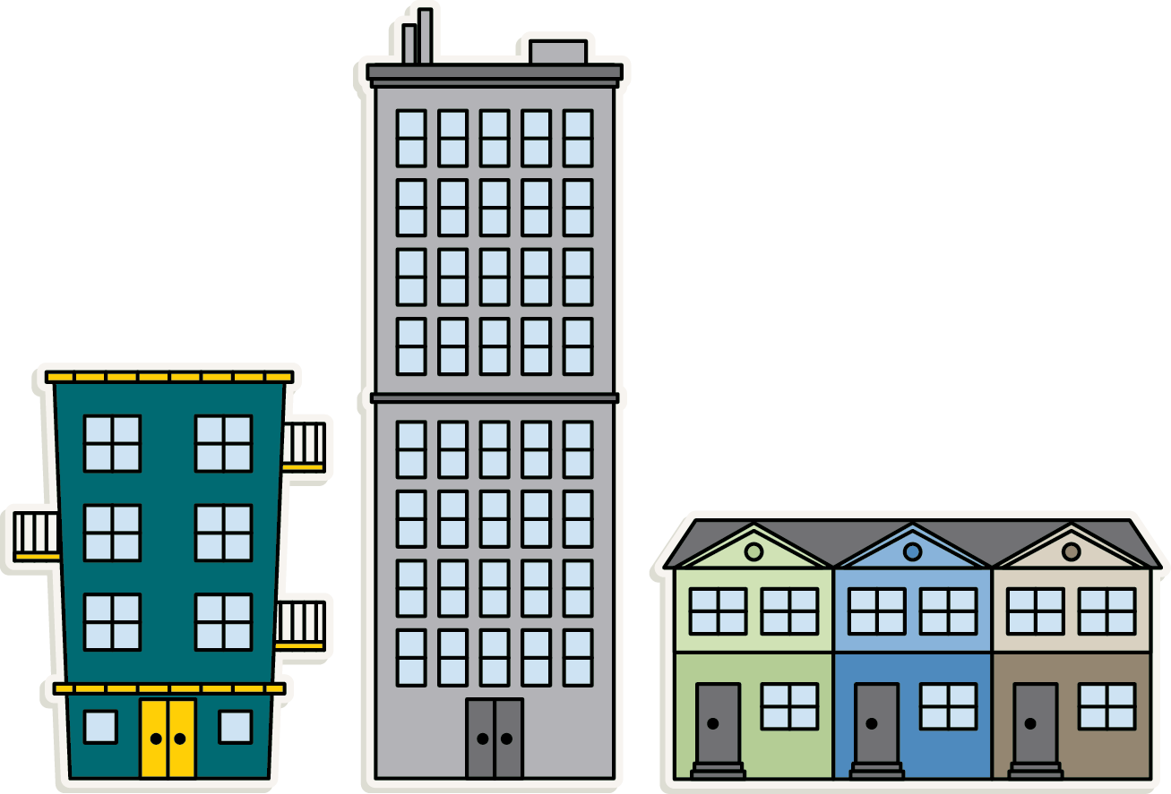 Apartment Transparent Background SVG Clip arts