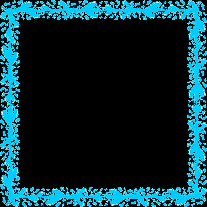 Aqua Border Frame PNG Transparent Image SVG Clip arts