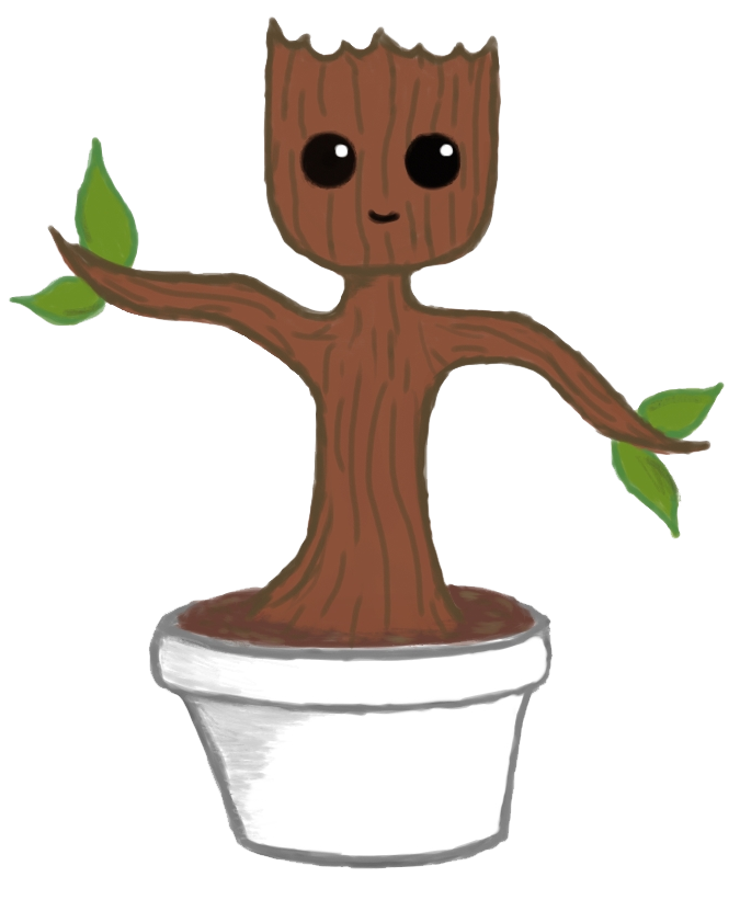 Baby Groot PNG File SVG Clip arts