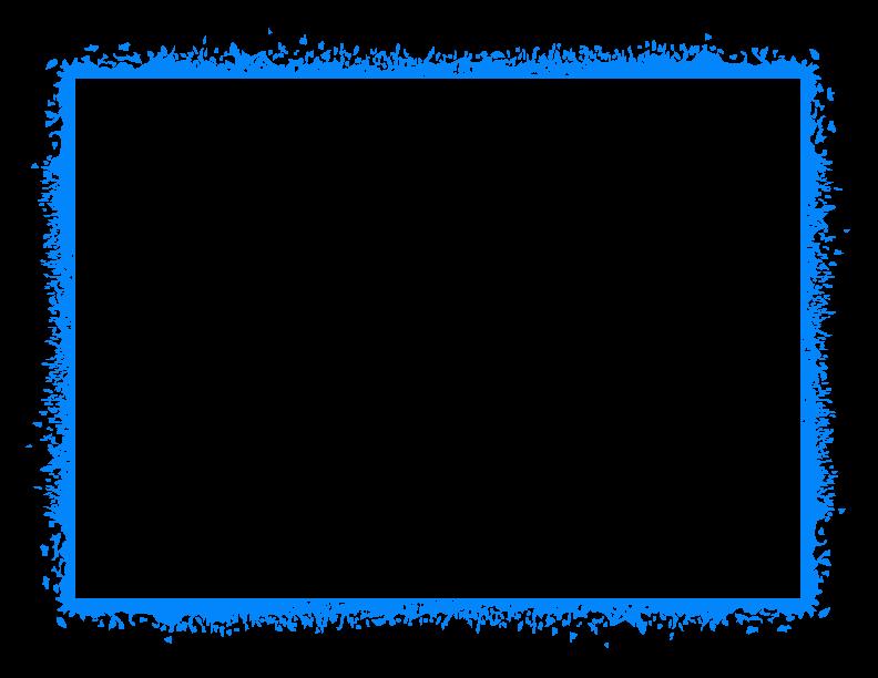 Blue Border Frame PNG HD SVG Clip arts