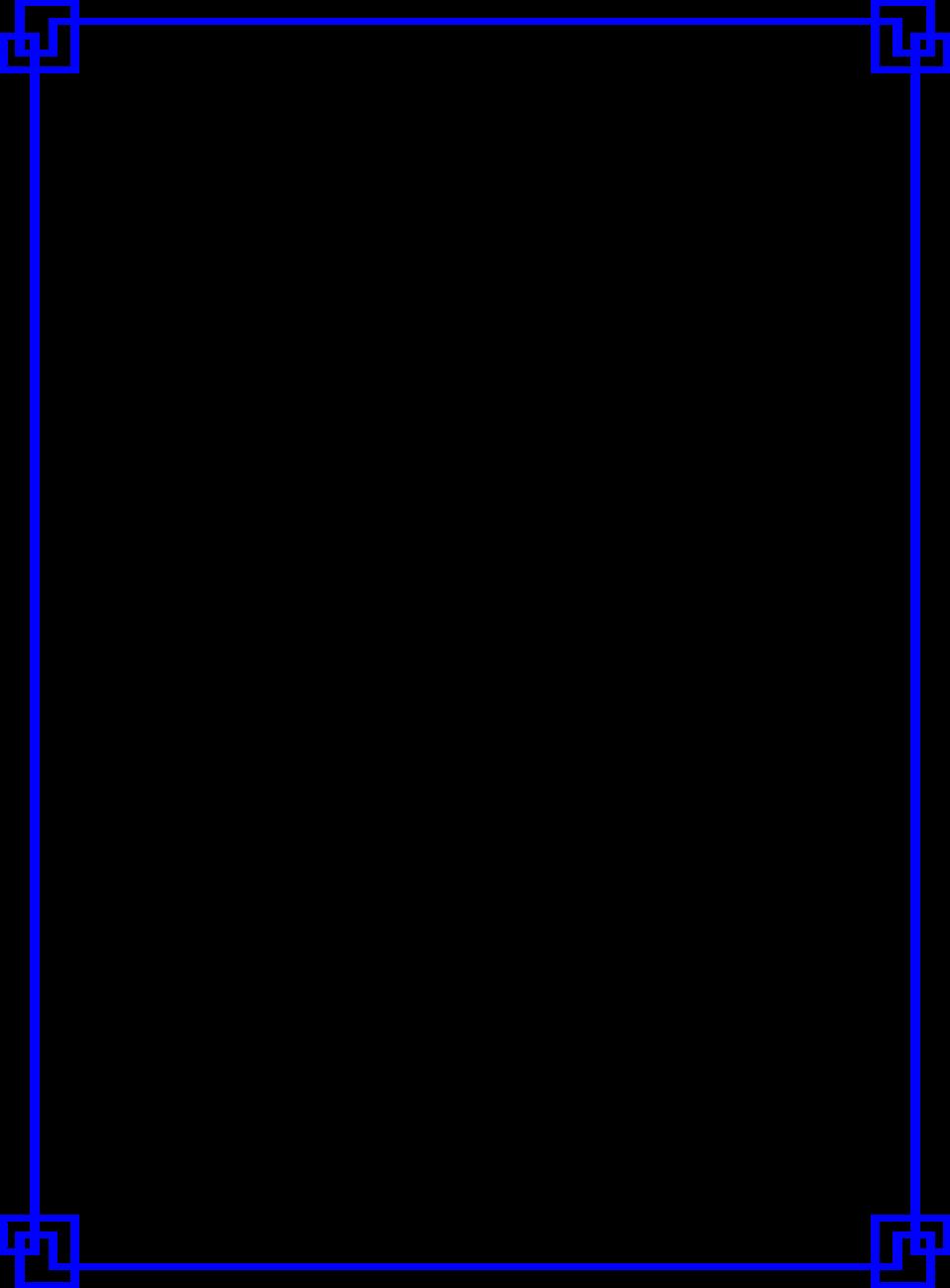 Blue Border Frame PNG Photo SVG Clip arts