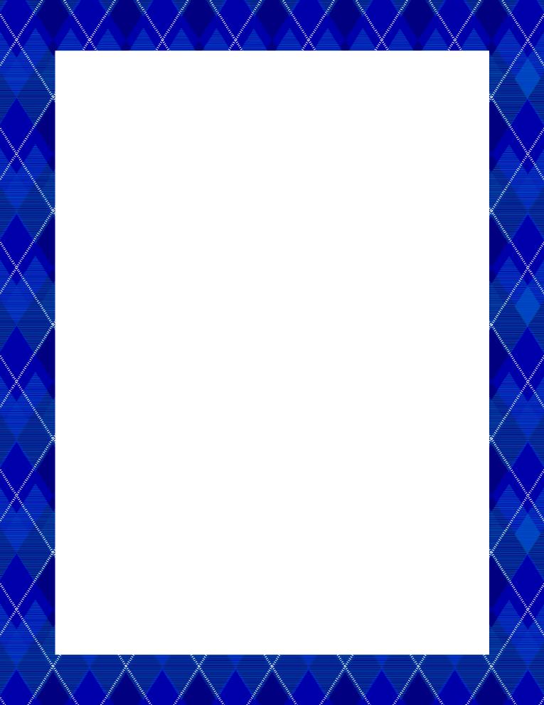 Blue Border Frame PNG Pic SVG Clip arts
