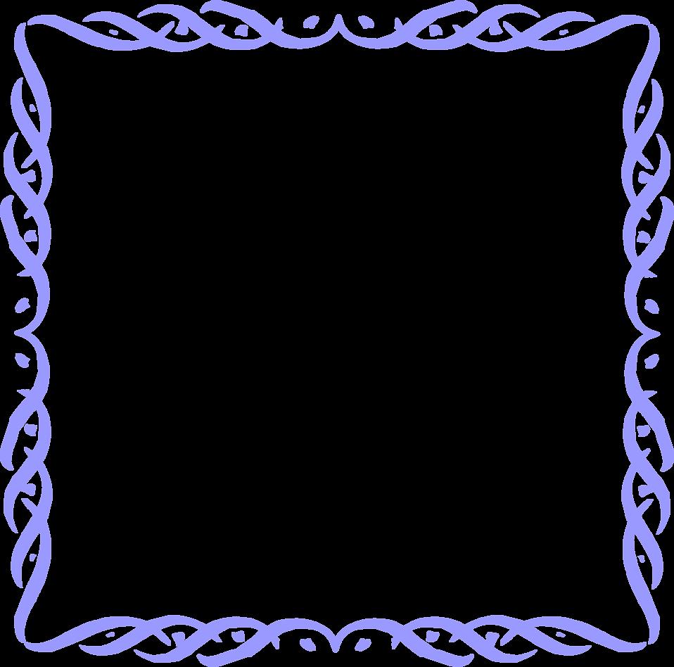 Blue Border Frame PNG Picture SVG Clip arts