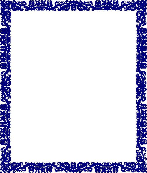 Blue Border Frame PNG Transparent Image SVG Clip arts