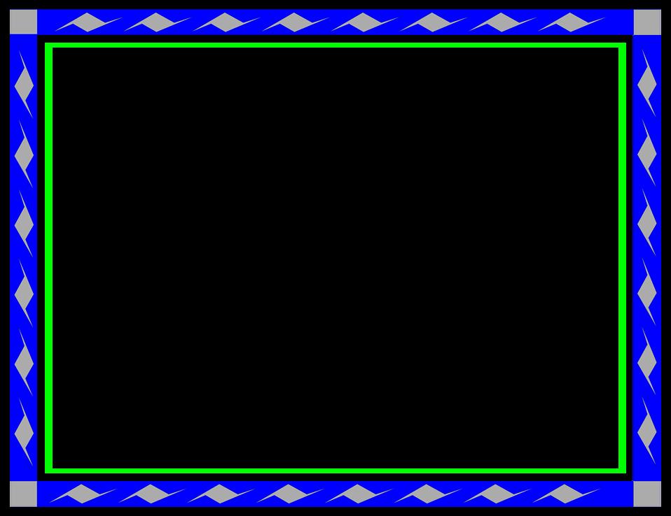Blue Border Frame Transparent Background SVG Clip arts