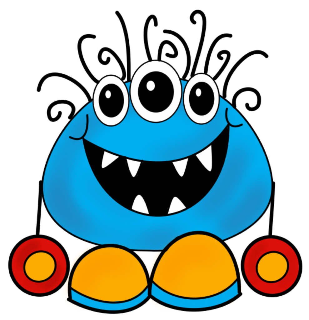 Blue Monster PNG Transparent SVG Clip arts