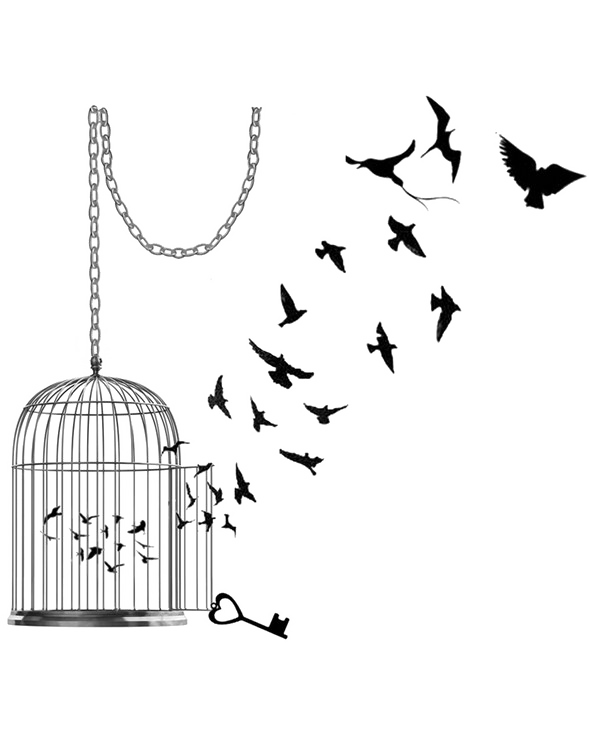Caged Bird PNG Pic SVG Clip arts