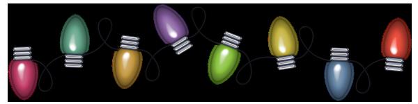 Christmas Decoration Lights PNG Transparent Picture SVG Clip arts
