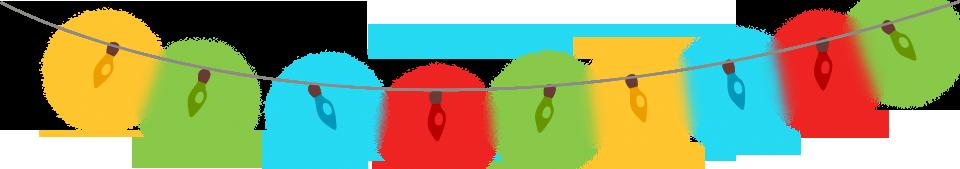 Christmas Lights PNG Transparent SVG Clip arts