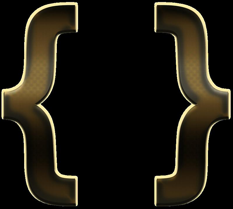 Curly Brackets PNG Transparent Image SVG Clip arts