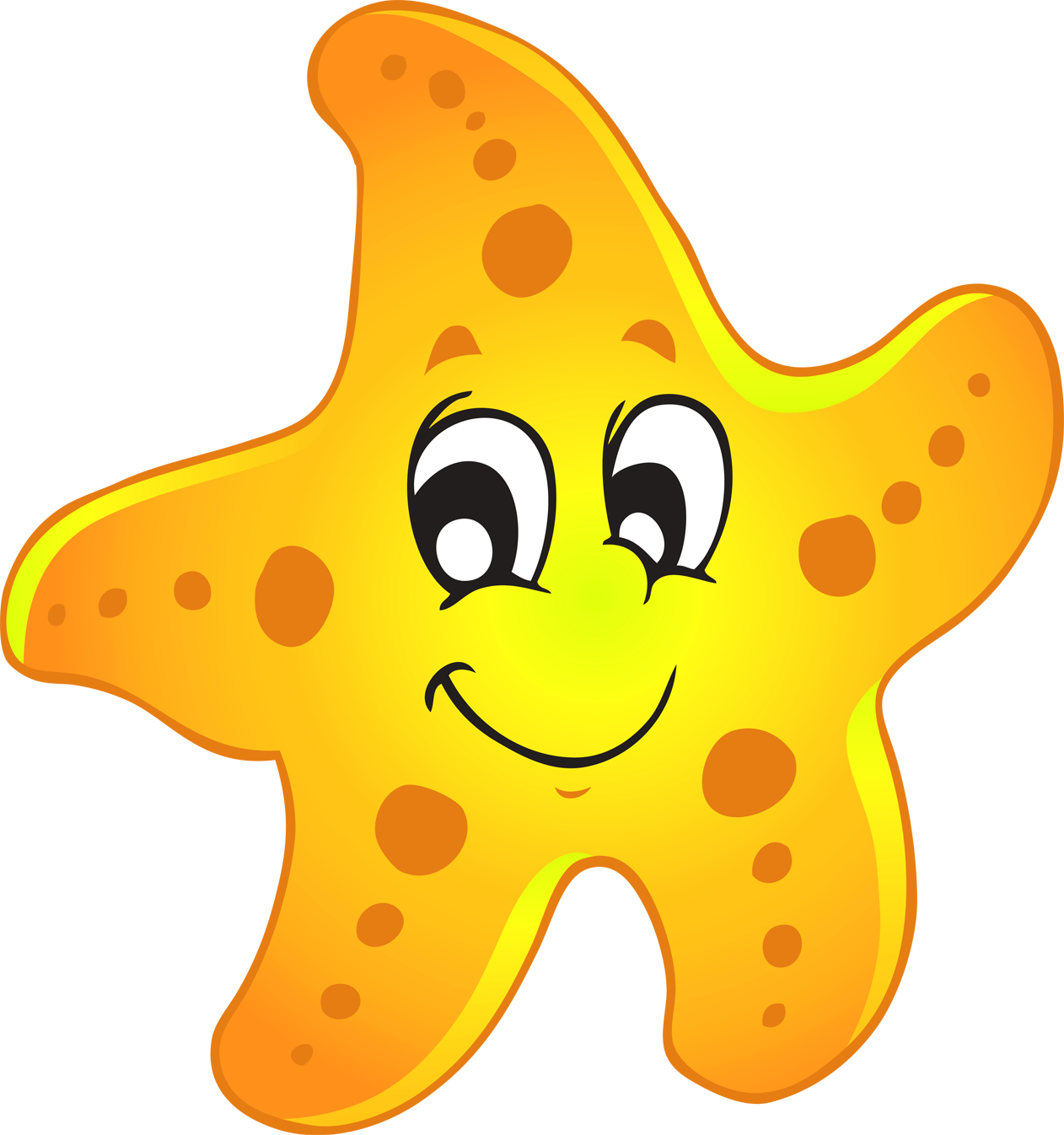Cute Starfish PNG Pic SVG Clip arts