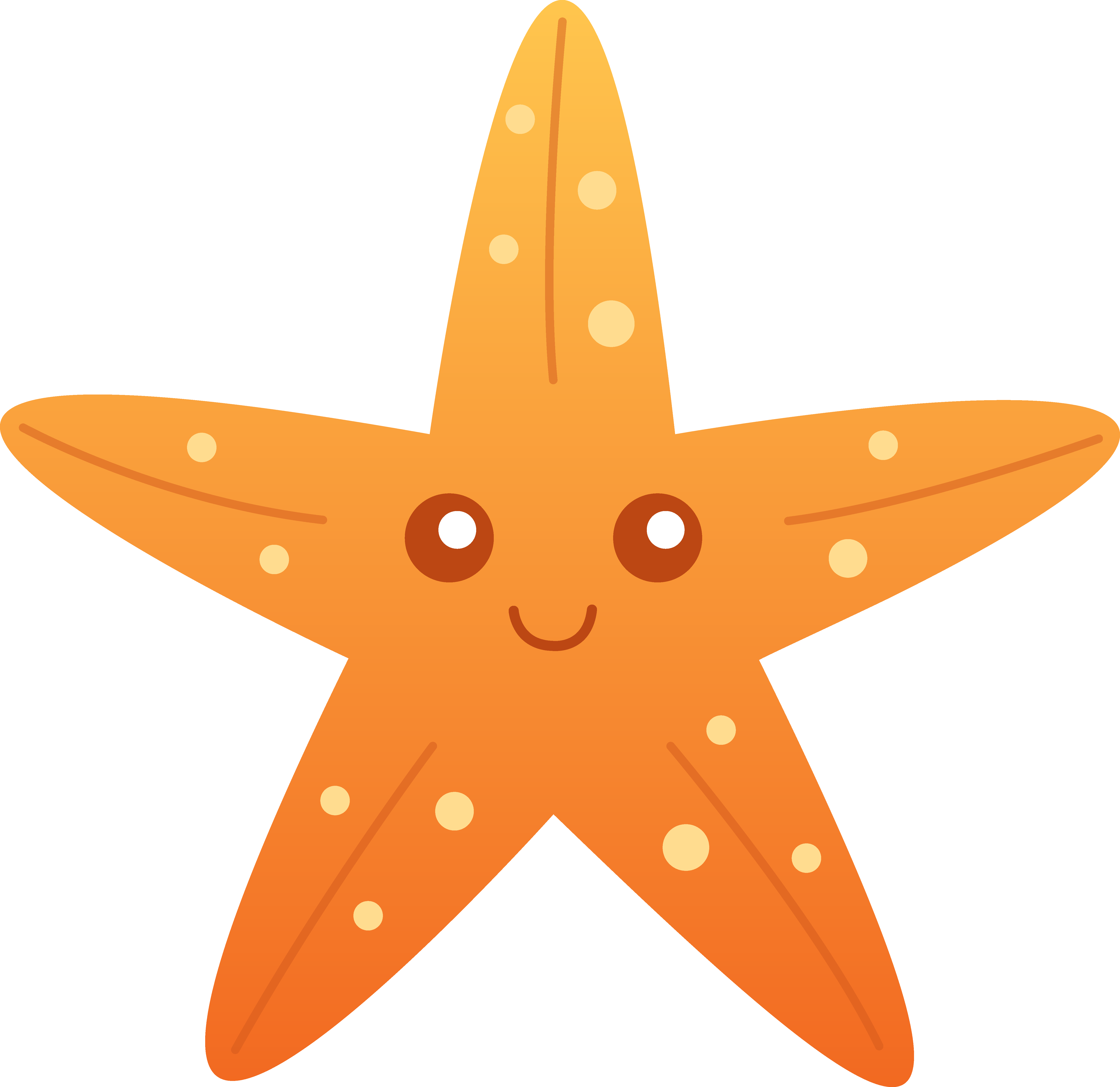 Cute Starfish PNG Transparent Picture SVG Clip arts