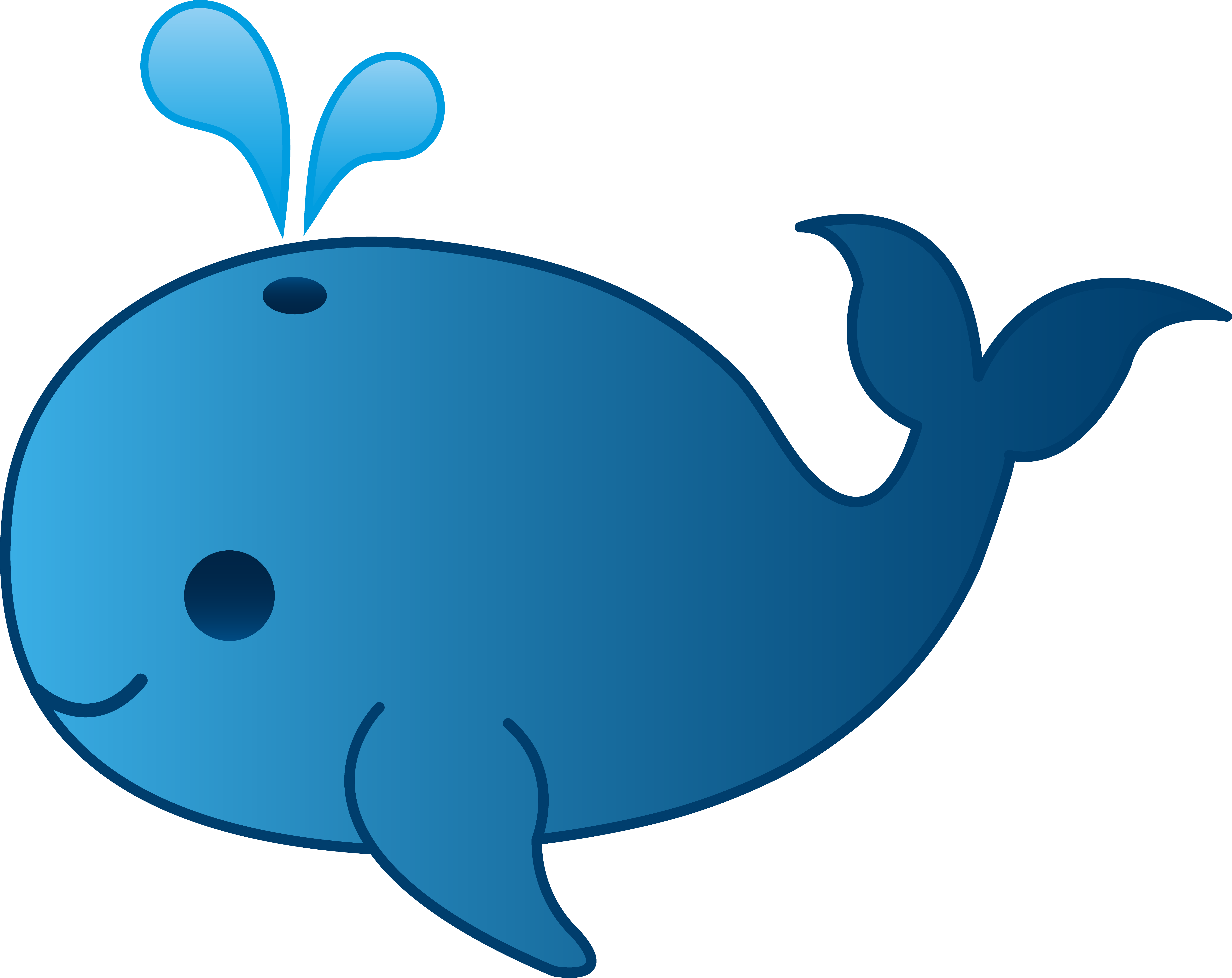 Cute Whale PNG Clipart SVG Clip arts