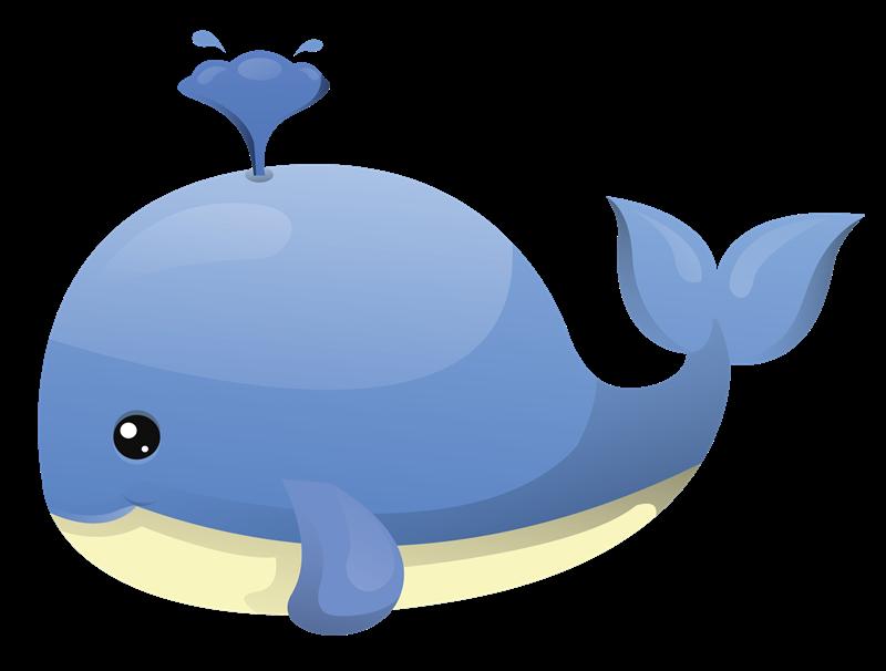 Cute Whale Transparent PNG SVG Clip arts