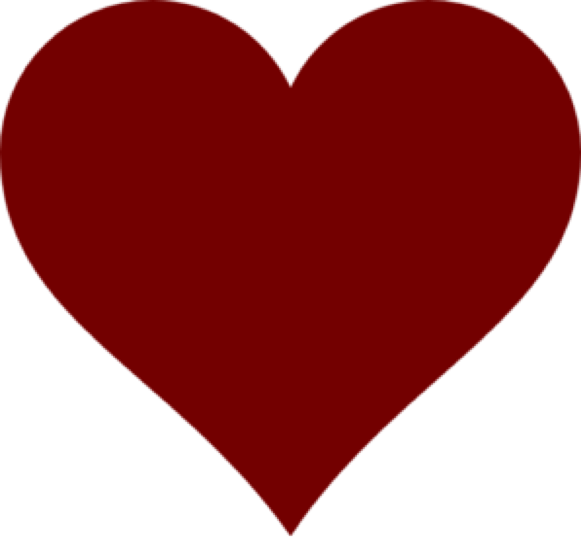 Dark Red Heart PNG Clipart SVG Clip arts