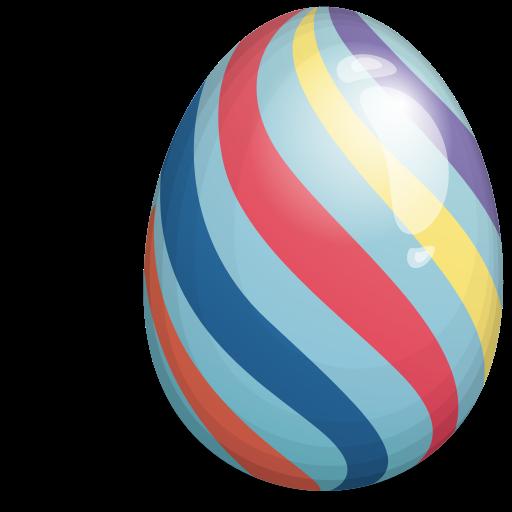 Easter Eggs Stripes PNG SVG Clip arts
