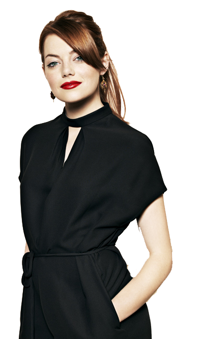 Emma Stone Transparent Background SVG Clip arts