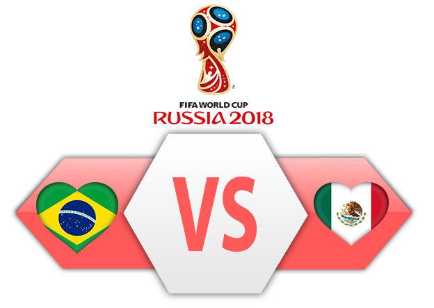 FIFA World Cup 2018 Brazil VS Mexico PNG Image SVG Clip arts