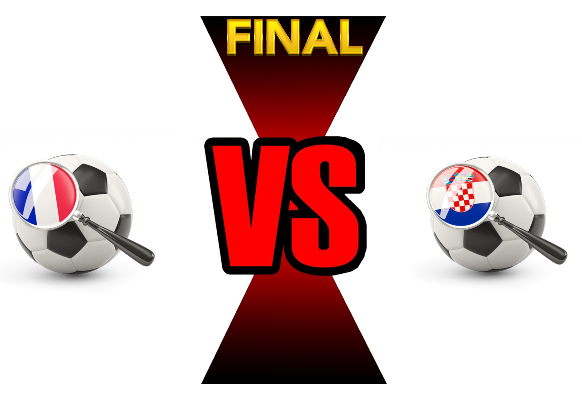 FIFA World Cup 2018 Final Match France VS Croatia PNG Image SVG Clip arts