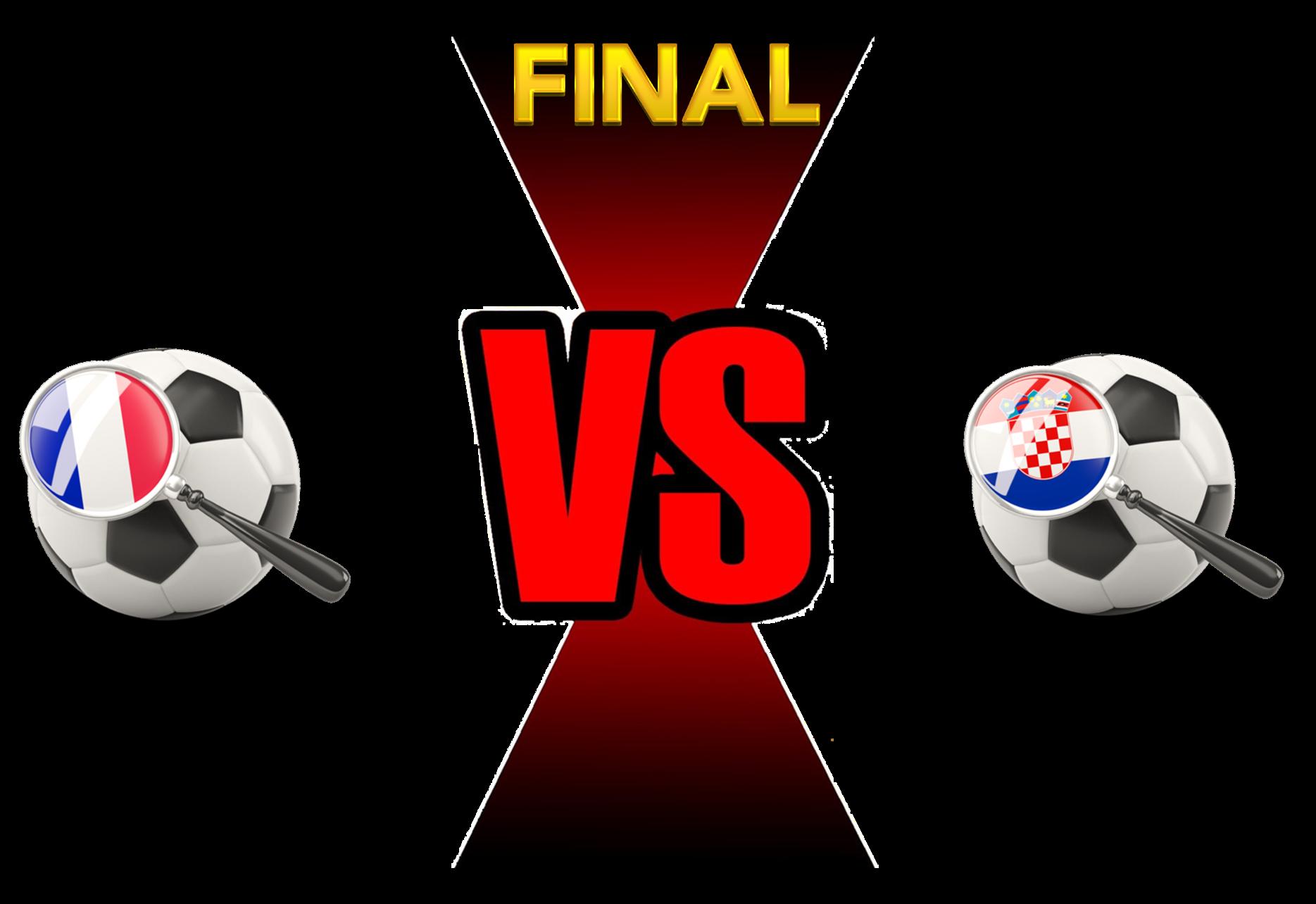 FIFA World Cup 2018 Final Match France VS Croatia PNG Image SVG Clip arts