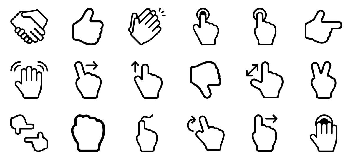 Gesture PNG File SVG Clip arts