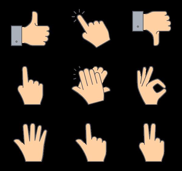 Gesture Transparent PNG SVG Clip arts