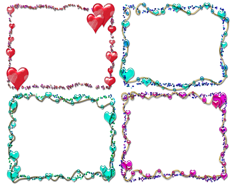 Girly Border PNG Clipart SVG Clip arts