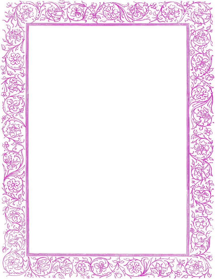 Girly Border PNG Free Download SVG Clip arts