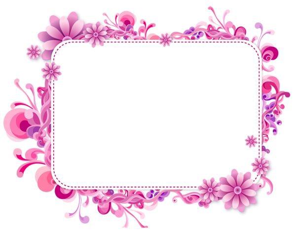 Girly Border PNG Photos SVG Clip arts