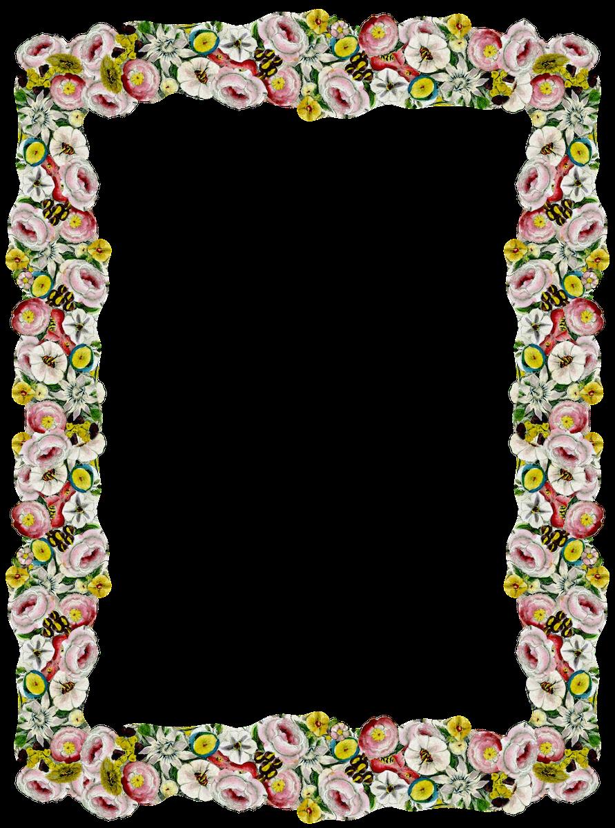 Girly Border PNG Pic SVG Clip arts