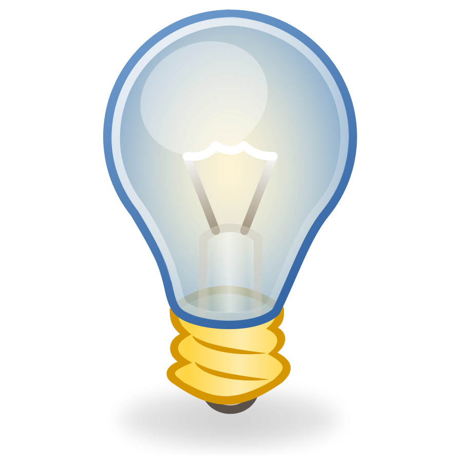 Glowing Bulb PNG Transparent Image SVG Clip arts