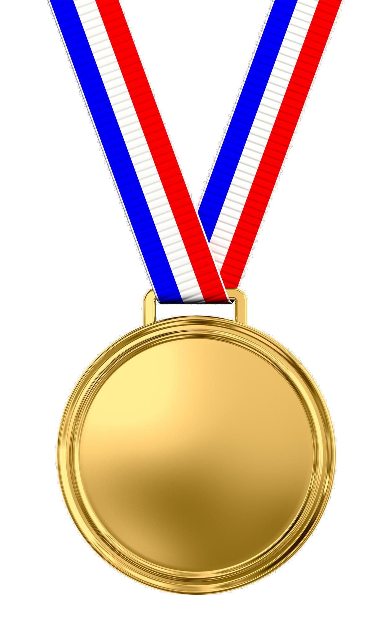 Gold Medal Transparent Background SVG Clip arts