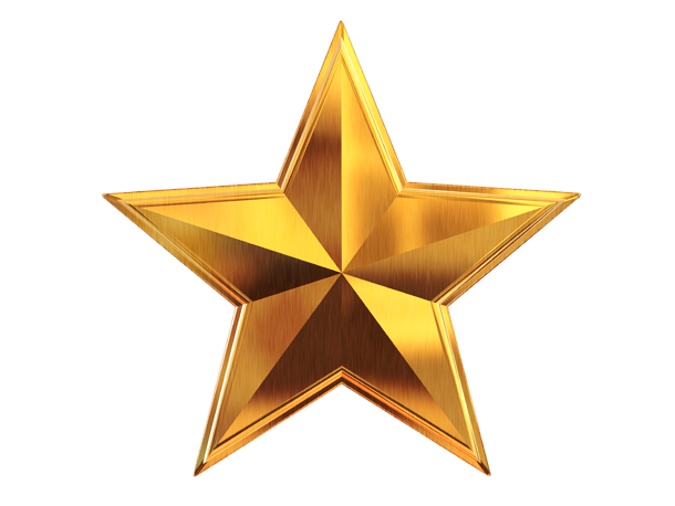 Gold Star Sticker PNG File SVG Clip arts