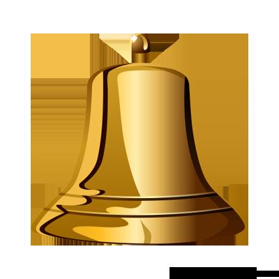 Golden Bell PNG SVG Clip arts