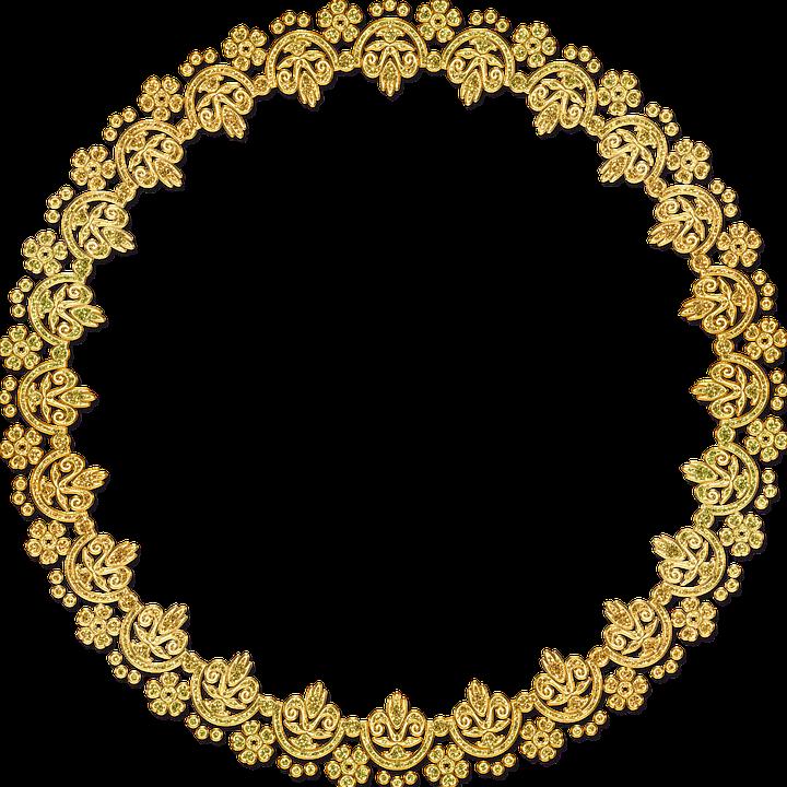 Golden Round Frame PNG HD SVG Clip arts