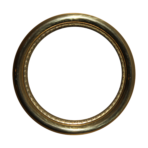 Golden Round Frame PNG Photos SVG Clip arts