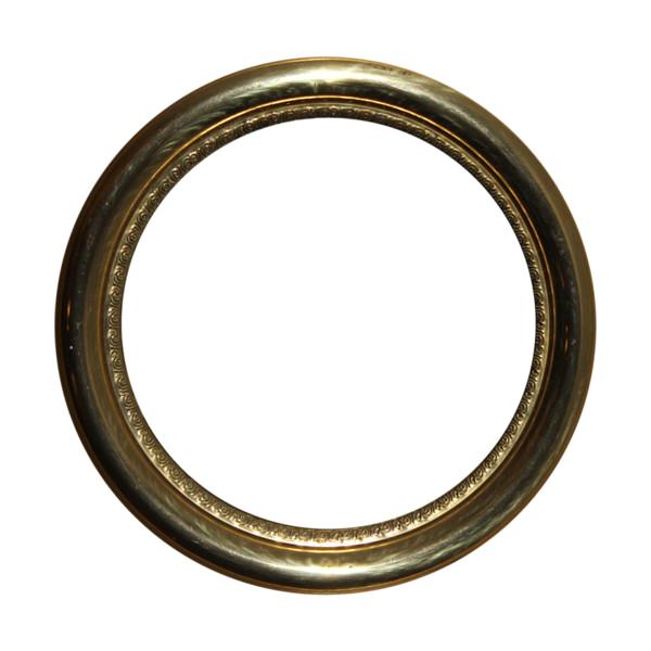 Golden Round Frame PNG Photos SVG Clip arts