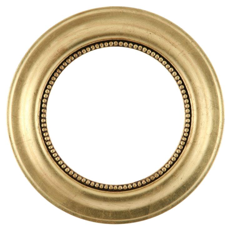 Golden Round Frame Transparent Background SVG Clip arts