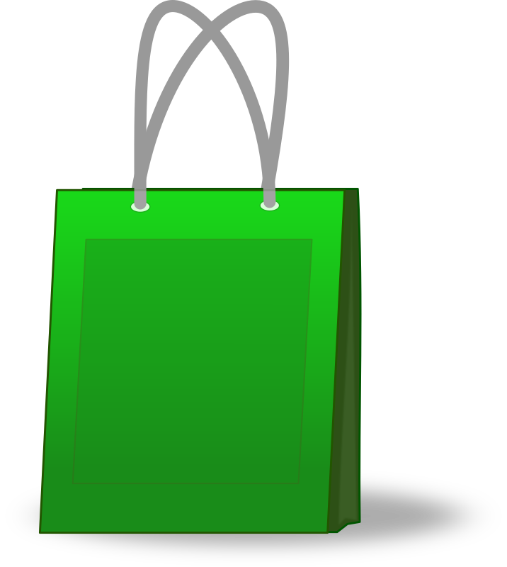 Green Shopping Bag Clip Art PNG SVG Clip arts