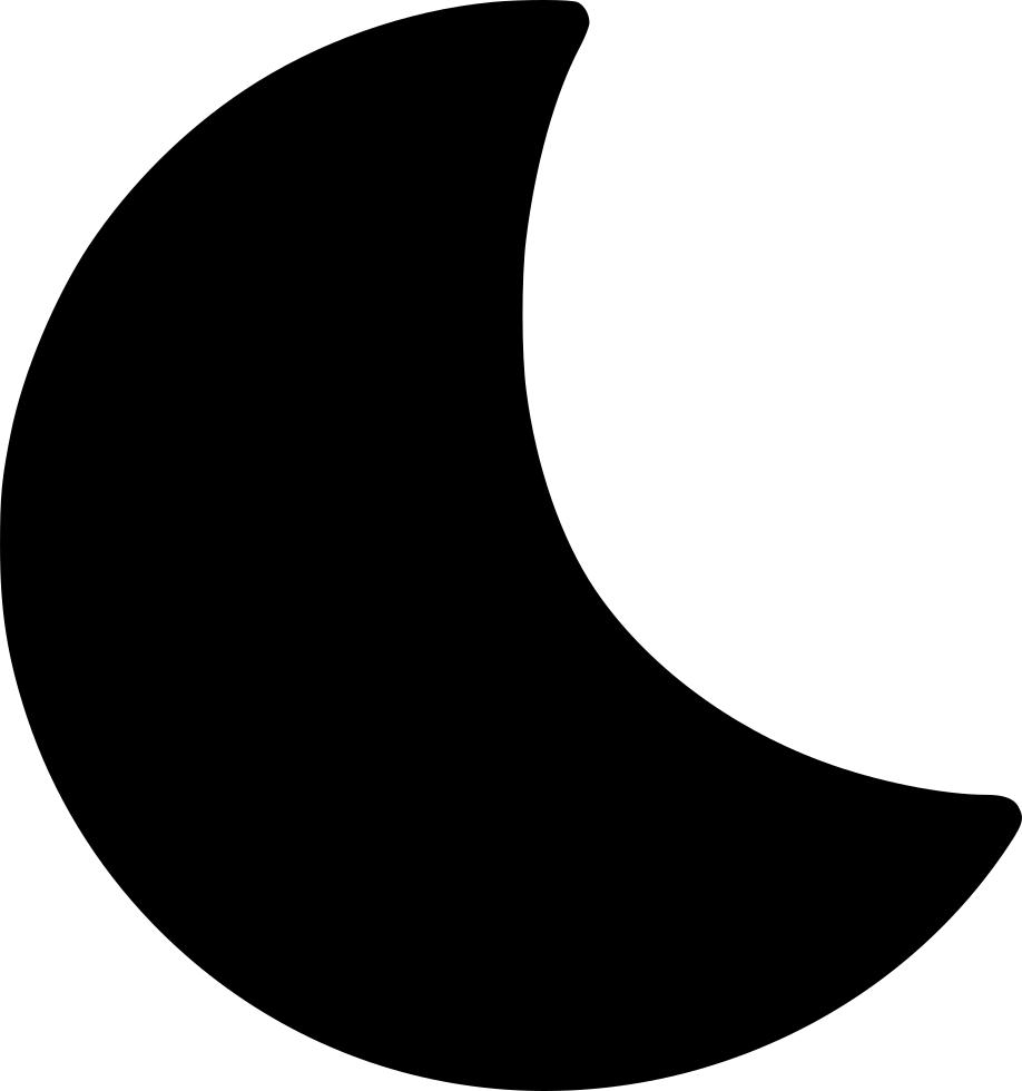 Half Moon Transparent Background SVG Clip arts